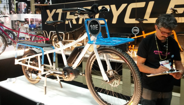 An electrically-assisted longail from Xtracycle