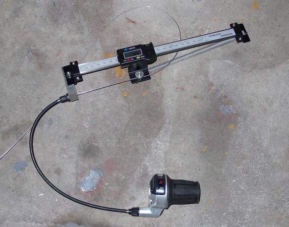 Alex Wetmore's cable pull measuring tool