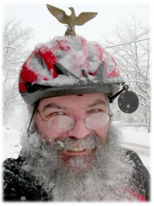 Sheldon enjoying winter cycling