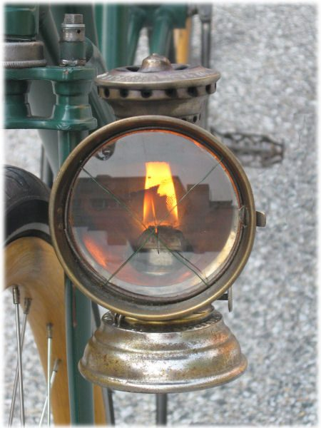 Kerosene bicycle lamp from around 1895