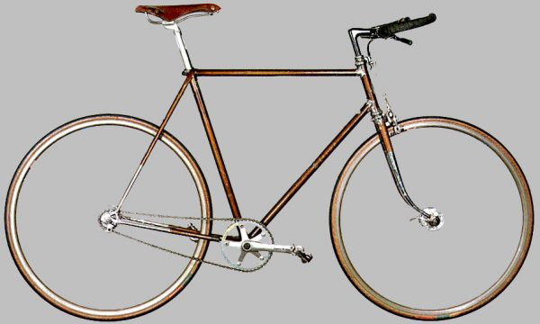 One of Sheldon's fixed-gear bicycles
