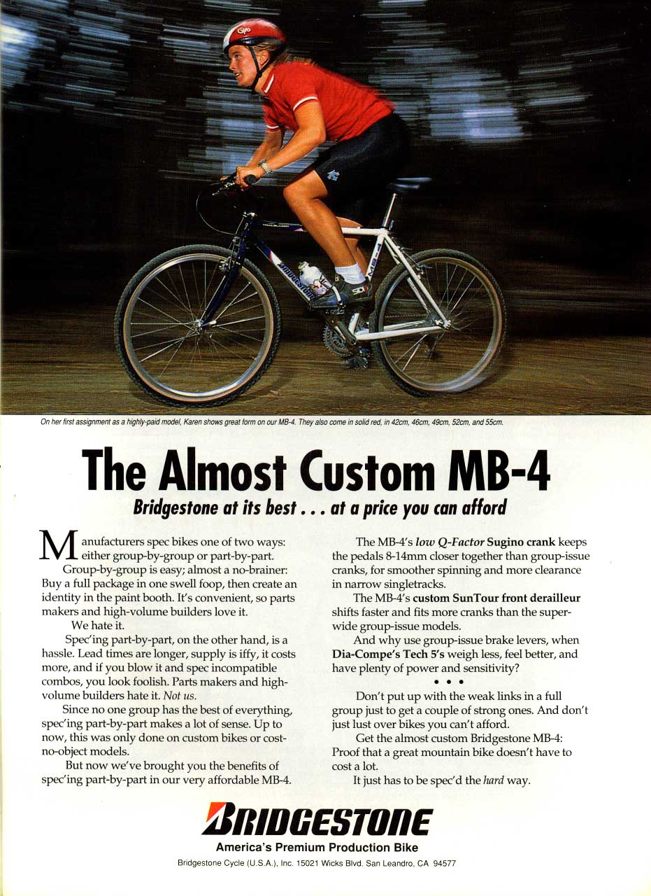 Bicycles mb 4 ad from march 1991 mountain bike action solutioingenieria Gallery