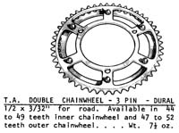 T.A. 3 pin double rings