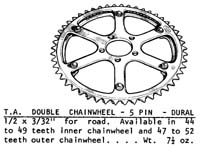 T.A. 5 pin double rings