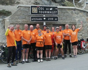 The Breton Bikes Charity Ride at the Top!
