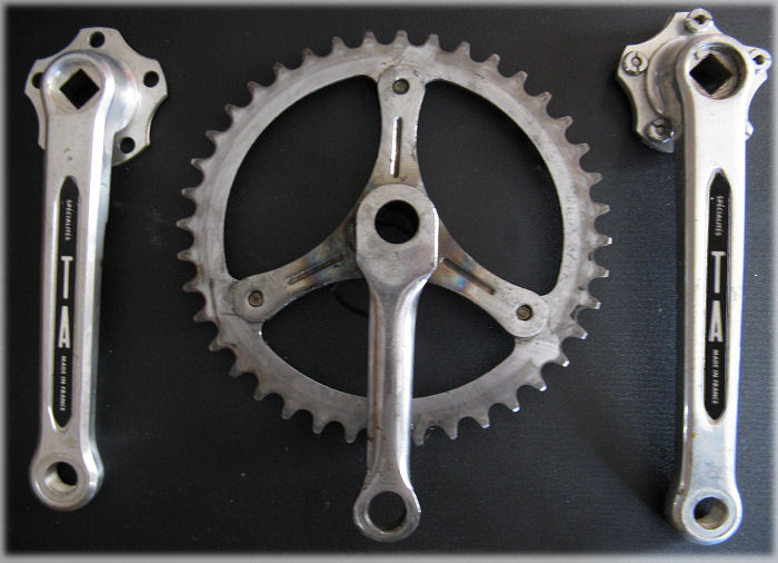 Cranks of differing lengths