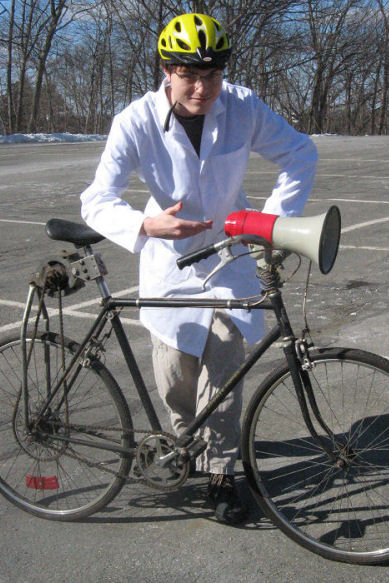 NHTSA Scientist with bicycle