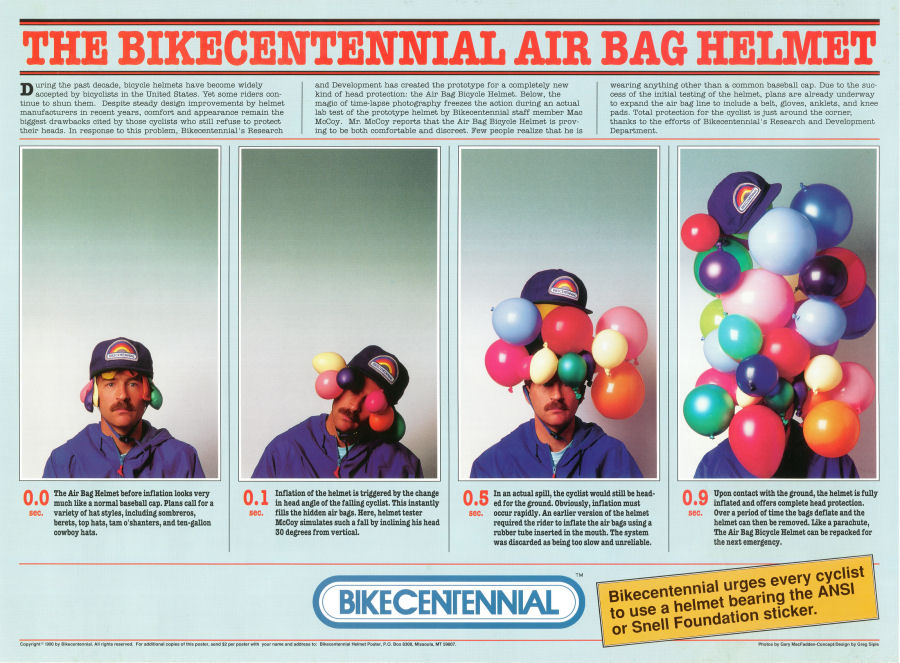 air-bag helmet poster