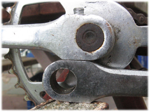 crank as anvil for cotter