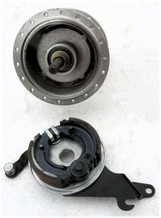 Drum brake disassembled