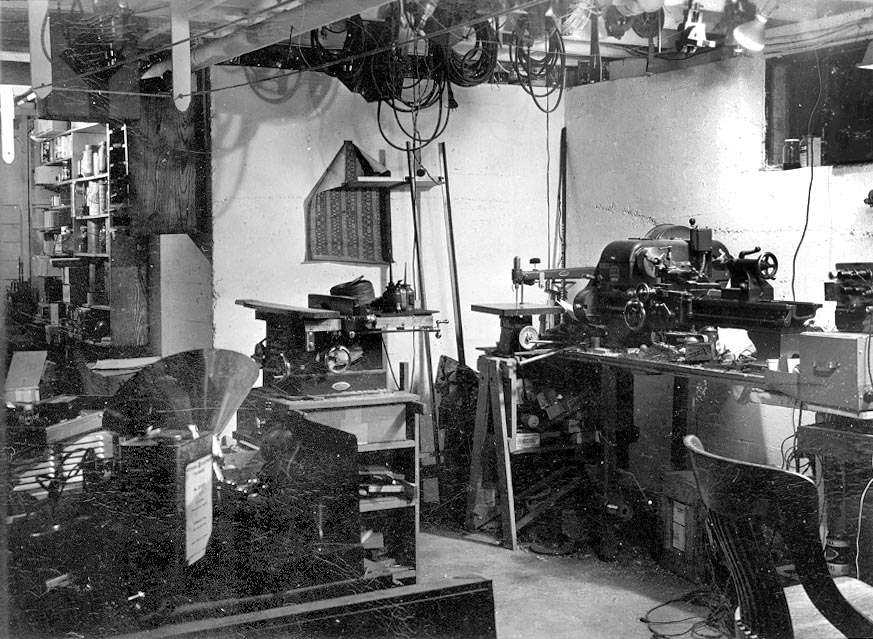 George Brown's workshop