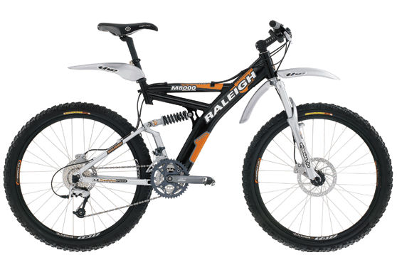 Raleigh M8000 dual-suspension MTB