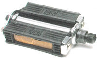 rubber-block pedal with rubber reflector
