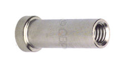 conventional nut for recessed brake mounting