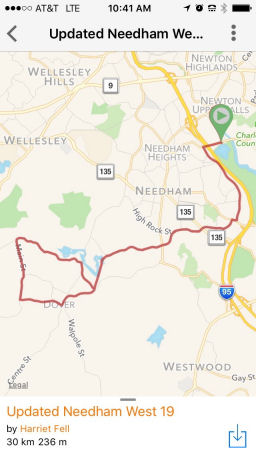 Updated Needham ride screenshot
