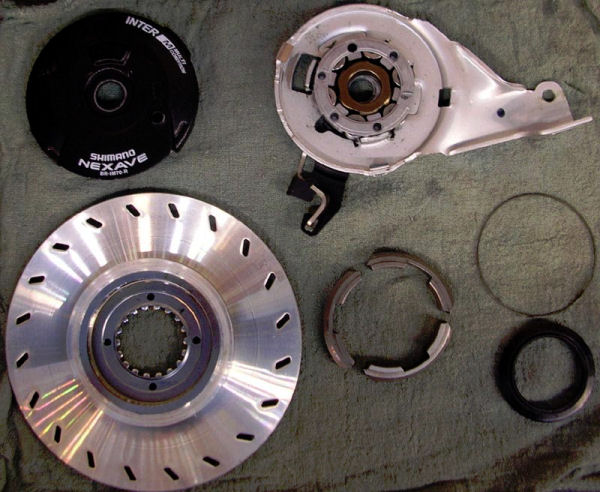 Shimano Br-IM70R disassembled