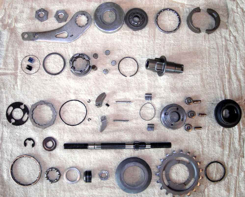 SRAM automatix hub disassembled