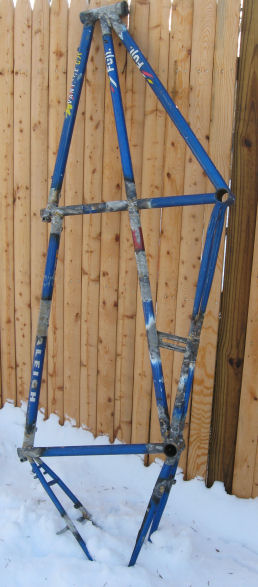 The tandem frame, before refinishing