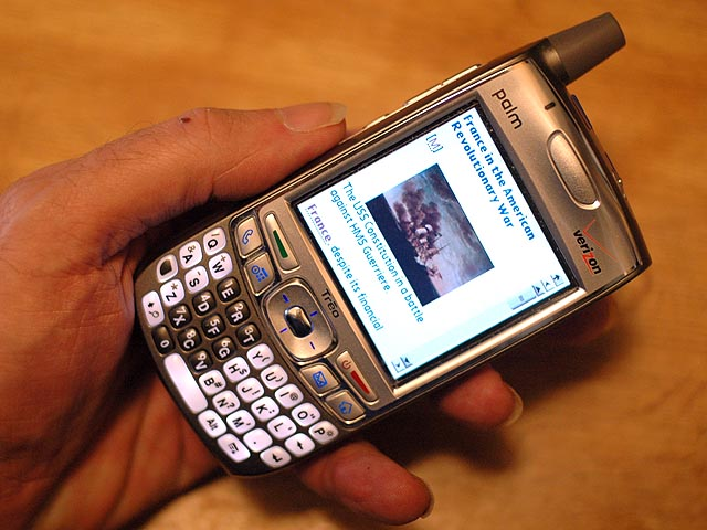Treo 700p with Wikipedia