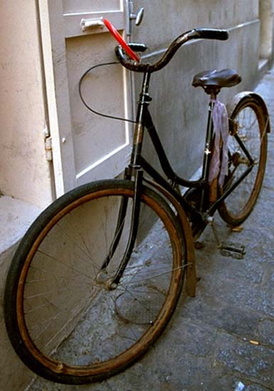 antique French lady's bike