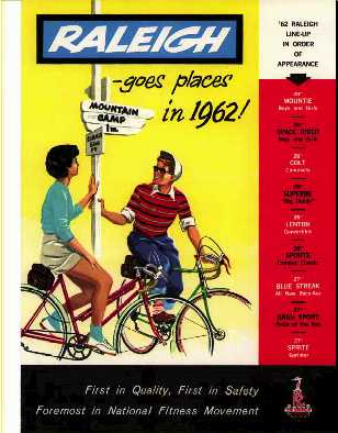 1962 Raleigh Bicycle Catalogue