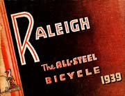 1939 Raleigh Bicycle Catalogue