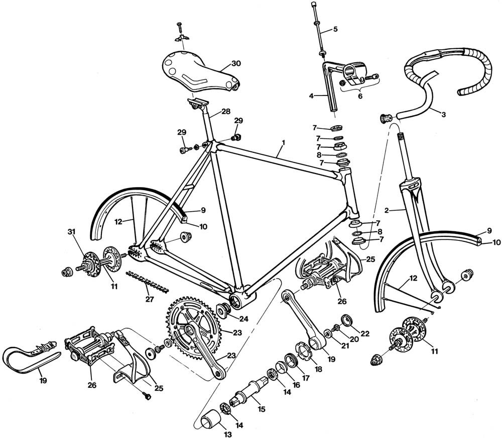 Bike Parts Drawing 22-track-bike