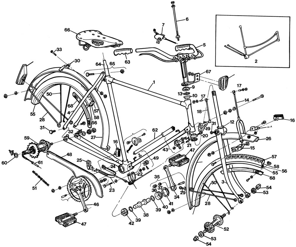 Bike Parts Diagram Exploded Bike Parts Diagram