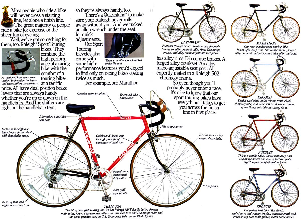 Bikes Catalog Raleigh USA Bicycle