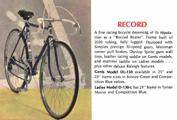 1968 Raleigh Record
