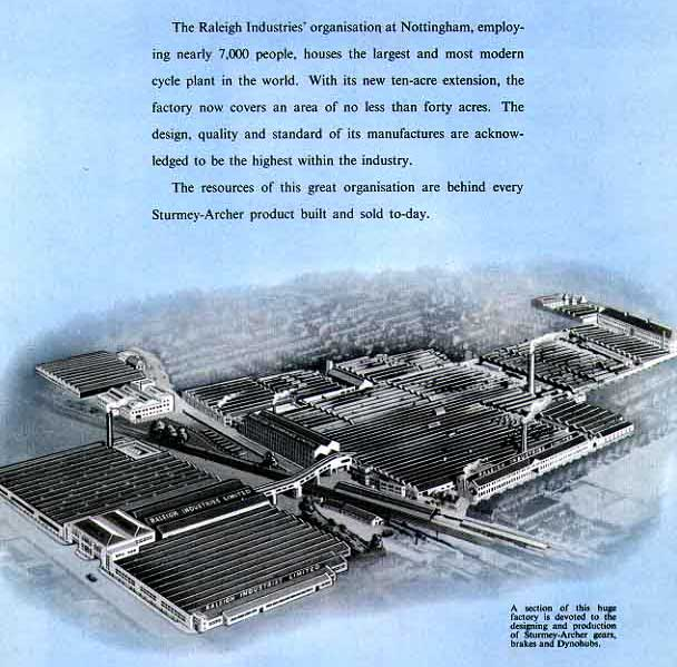 Raleigh Factory, Nottingham 1952
